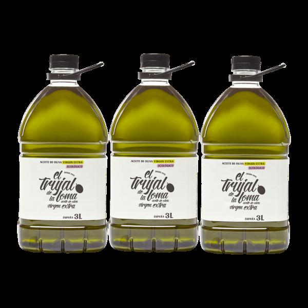 CAJA 3x AOVE Trujal Garrafa 3l botellas